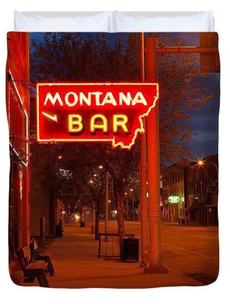 Historical Montana Bar Duvet Cover