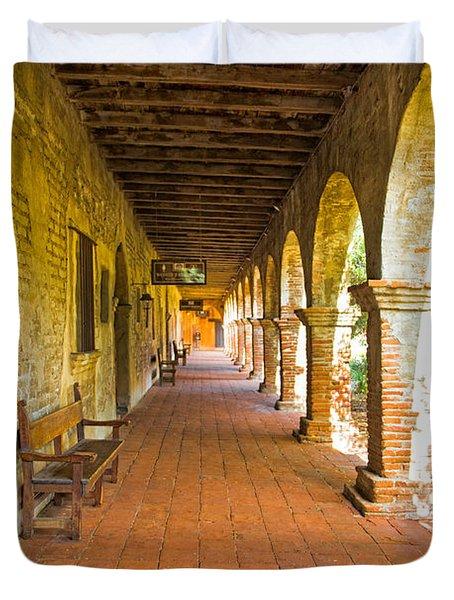 Historical Porch Duvet Cover