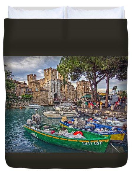 History At Lake Garda Duvet Cover by Hanny Heim