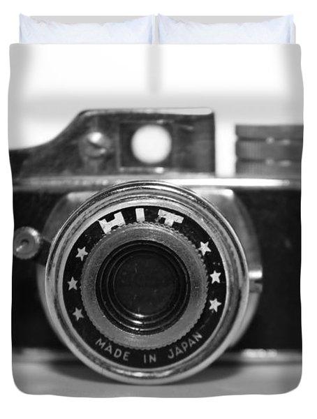 Hit Camera  Duvet Cover by Kelly Hazel