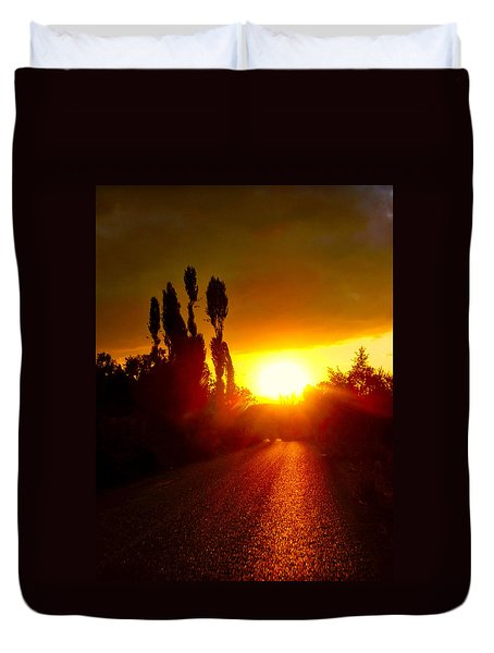 Duvet Cover featuring the photograph Hit The Road Jack by Zafer Gurel