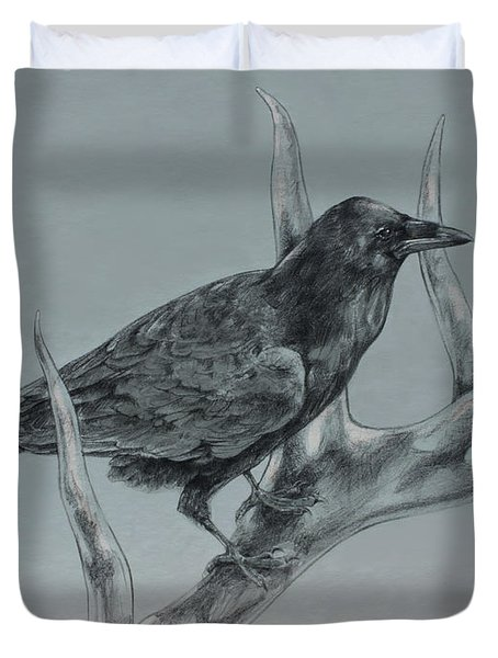 Hitchhiker Drawing Duvet Cover