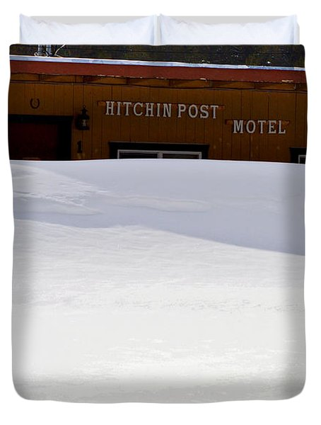 Hitchin' Post April Duvet Cover by Jeremy Rhoades