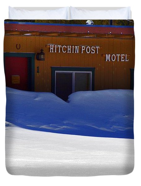 Hitchin' Post March Duvet Cover by Jeremy Rhoades