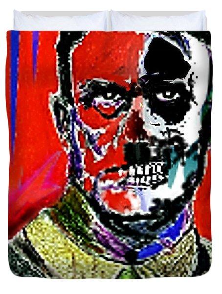 Hitler  - The  Face  Of  Evil Duvet Cover