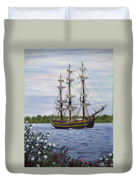 Hms Bounty Duvet Cover by Vicky Path