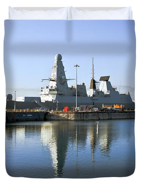 Hms Dauntless Duvet Cover