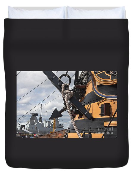 Hms Diamond And Hms Victory Duvet Cover
