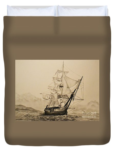 Hms Surprise Duvet Cover by John Huntsman
