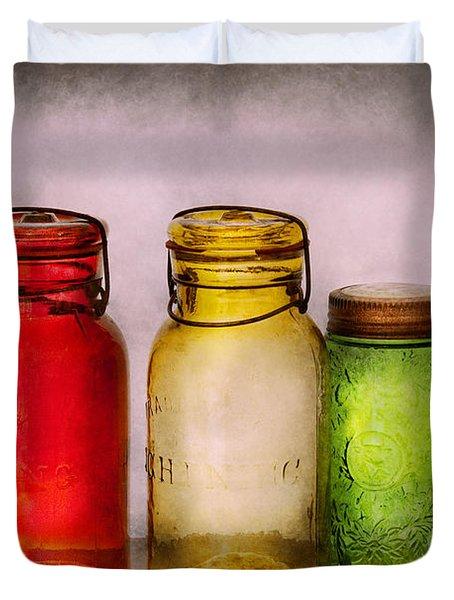 Hobby - Jars - I'm A Jar-aholic  Duvet Cover by Mike Savad