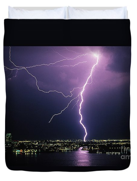 Duvet Cover featuring the photograph Hoboken  New Jersey by J L Woody Wooden