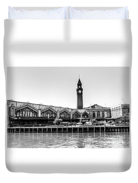 Hoboken Terminal Tower Duvet Cover