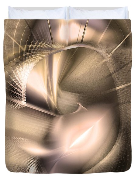 Hoc Omnis Est - Abstract Art Duvet Cover