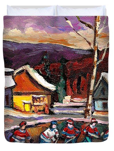 Hockey 4 Duvet Cover by Carole Spandau