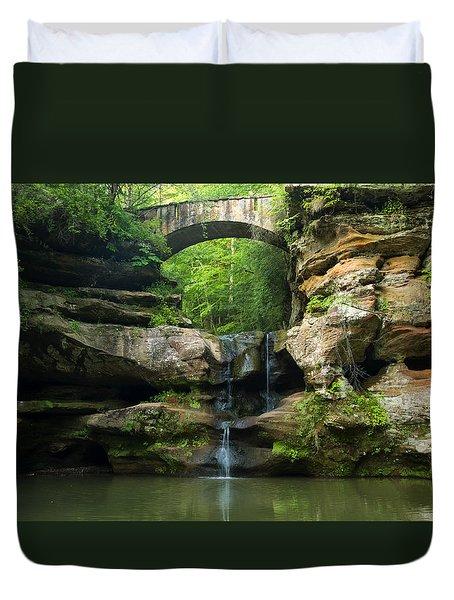 Hocking Hills Waterfall 1 Duvet Cover