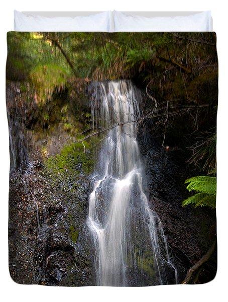 Hogarth Falls Tasmania Duvet Cover
