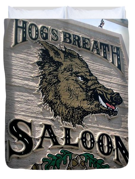 Hog's Breath Saloon Duvet Cover by Fiona Kennard