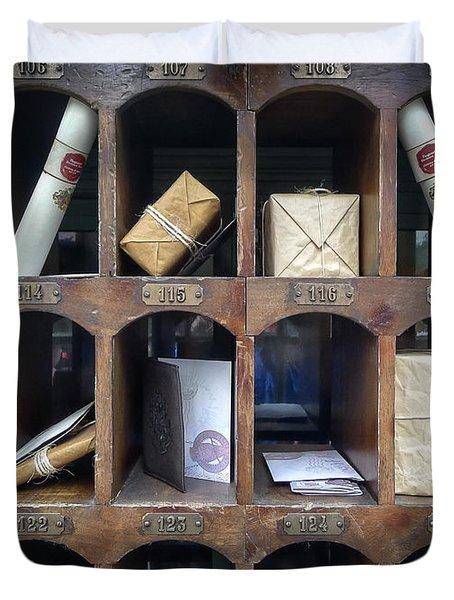 Hogsmeade Owl Post Office Duvet Cover