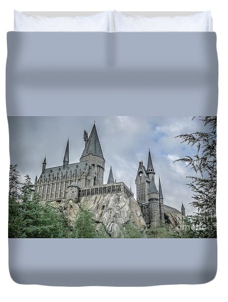 Hogswarts Castle  Duvet Cover by Edward Fielding