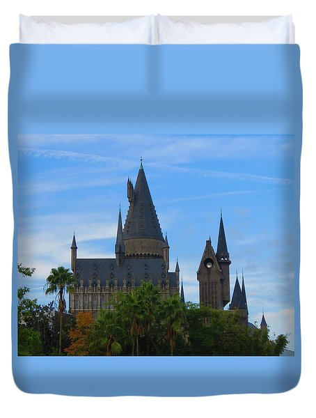 Hogwarts Castle With Towers Duvet Cover