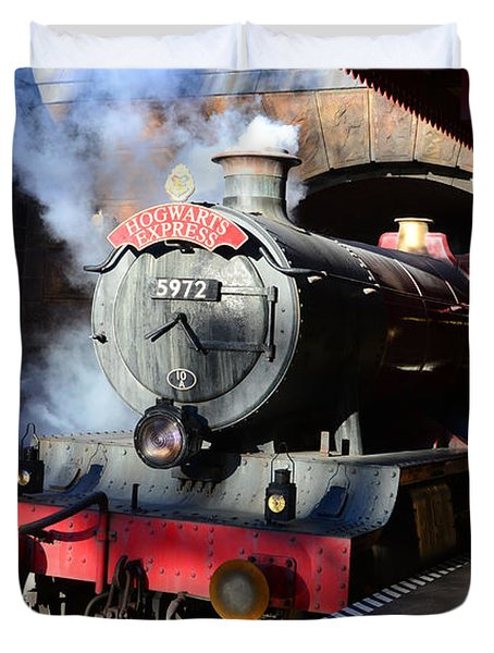 The Hogwarts Express Is Here Duvet Cover