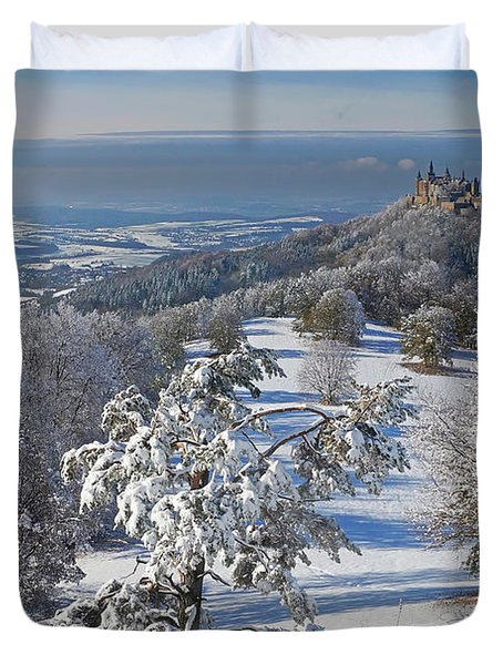 Duvet Cover featuring the photograph Hohenzollern Castle 2 by Rudi Prott