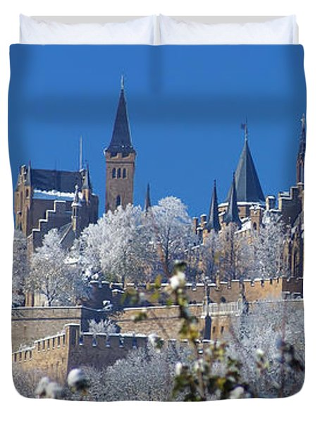 Hohenzollern Castle Germany Duvet Cover by Rudi Prott