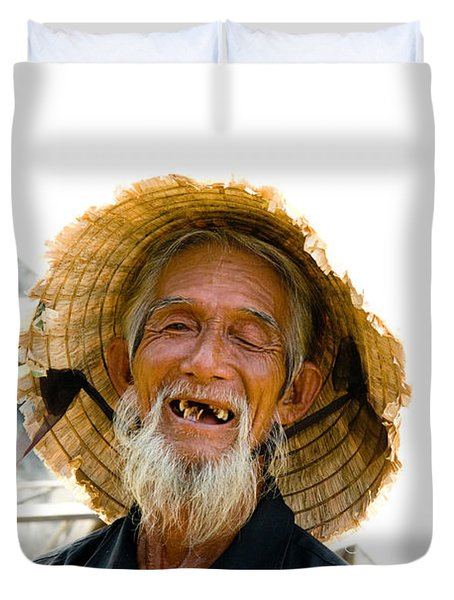 Hoi An Fisherman Duvet Cover by David Smith