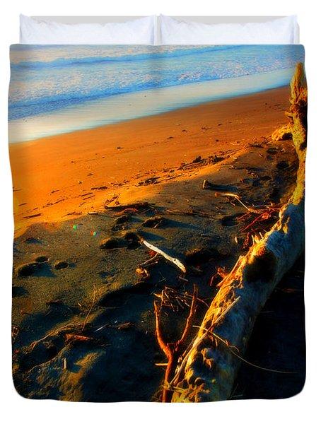 Duvet Cover featuring the photograph Hokitika Beach New Zealand by Amanda Stadther
