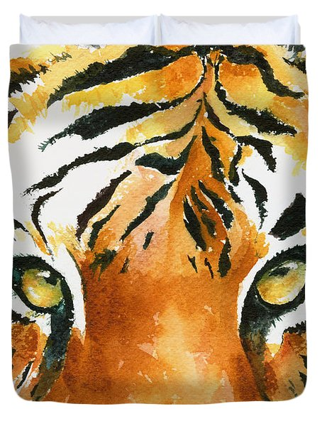 Hold That Tiger Duvet Cover