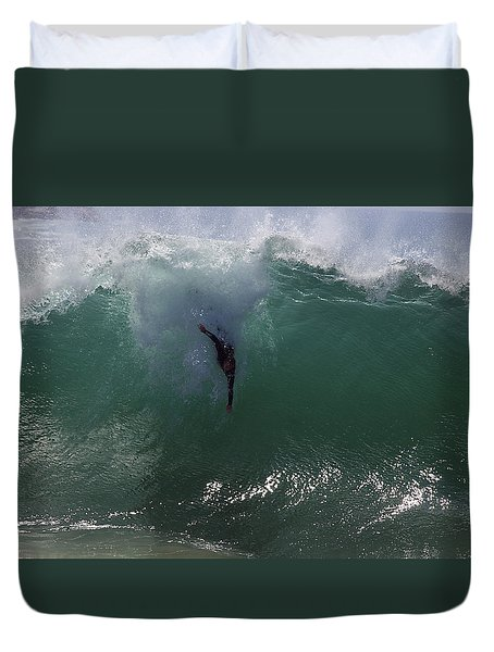Duvet Cover featuring the photograph Hold Your Breath by Joe Schofield