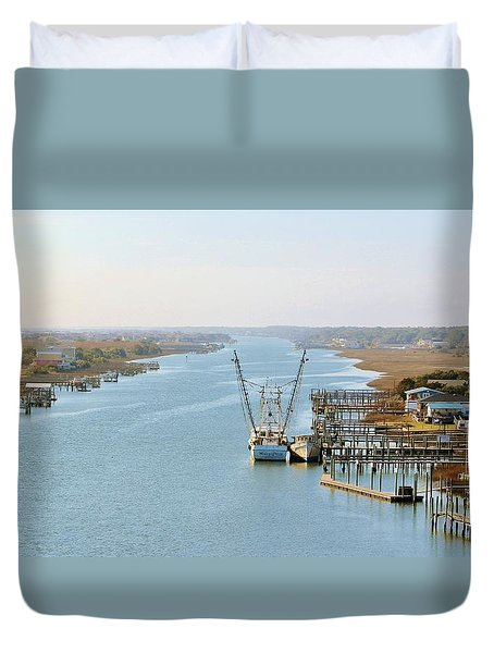 Holden Beach In Nc Duvet Cover