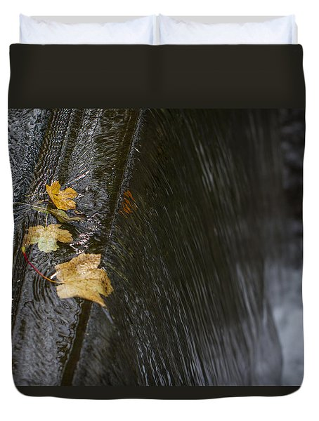 Holding On To The Edge. Duvet Cover