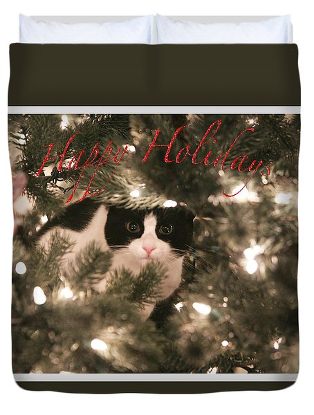 Holiday Card Duvet Cover by Shoal Hollingsworth