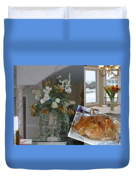 Holiday Collage Duvet Cover