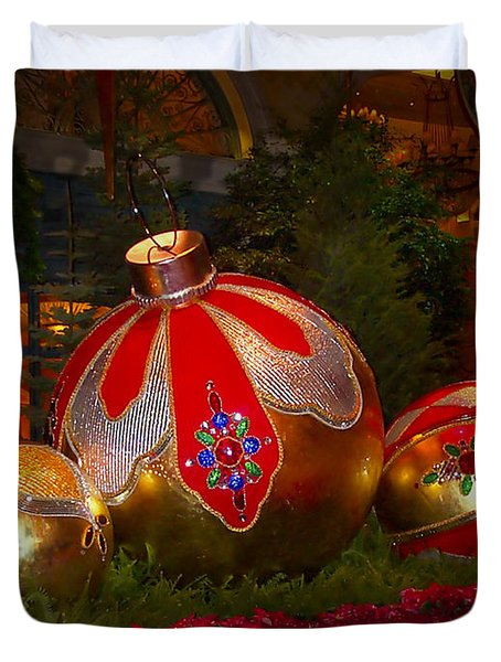 Holiday Decorations Duvet Cover by Lucinda Walter