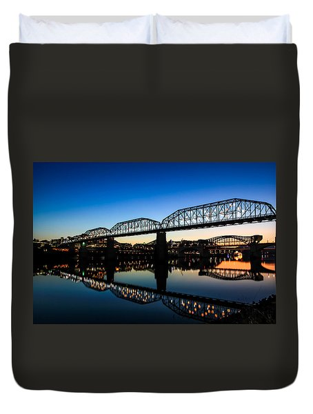 Holiday Lights Chattanooga Duvet Cover