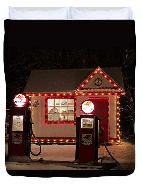 Holiday Service Station Duvet Cover by Susan  McMenamin