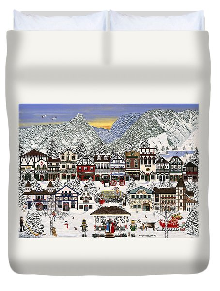 Holiday Village Duvet Cover