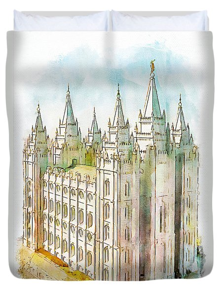 Holiness To The Lord Duvet Cover by Greg Collins