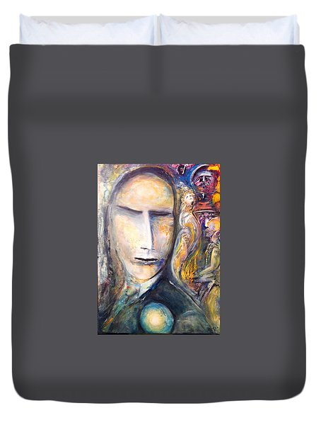 Hollow Man  Duvet Cover by Kicking Bear  Productions