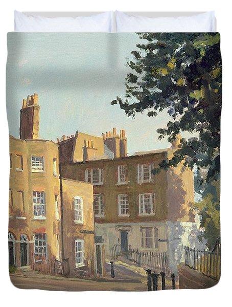 Holly Hill, Hampstead Oil On Canvas Duvet Cover