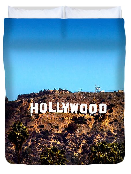 Hollywood Sign Duvet Cover