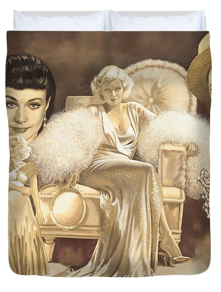 Hollywoods Golden Era Duvet Cover by Dick Bobnick