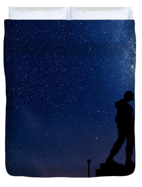Holocaust Memorial - Night Duvet Cover by Nishanth Gopinathan