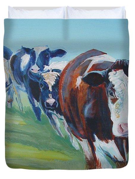 Holstein Friesian Cows Duvet Cover