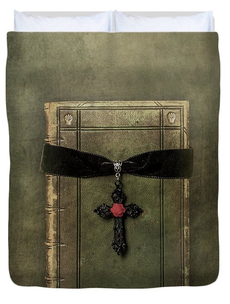 Holy Book Duvet Cover by Joana Kruse