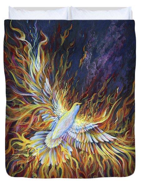 Holy Fire Duvet Cover