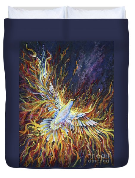 Holy Fire Duvet Cover by Nancy Cupp