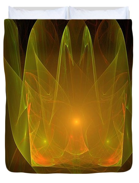 Holy Ghost Fire Duvet Cover by Bruce Nutting